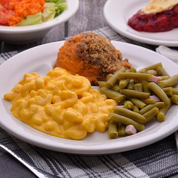 A plate of side dishes at Hartville Kitchen