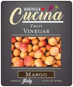 Hartville Cucina Mango White Balsamic Vinegar label