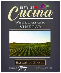 Hartville Cucina Balsamico Bianco (White Traditional) White Balsamic Vinegar label