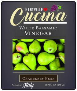 Hartville Cucina Cranberry Pear White Balsamic Vinegar label