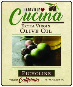 Hartville Cucina Picholine Extra Virgin Olive Oil label
