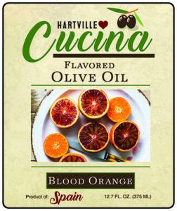 Hartville Cucina Blood Orange Flavor Infused Olive Oil label