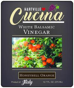 Hartville Cucina Honeybell Orange White Balsamic Vinegar label