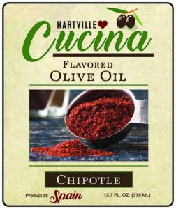 Hartville Cucina Chipotle Flavor Infused Olive Oil label