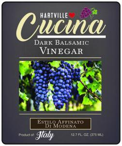 Hartville Cucina Estilo Affinato Di Modena Dark Balsamic Vinegar label