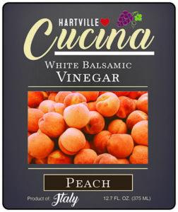 Hartville Cucina Peach White Balsamic Vinegar label