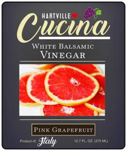 Hartville Cucina Pink Grapefruit White Balsamic Vinegar label