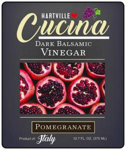 Hartville Cucina Pomegranate Dark Balsamic Vinegar label
