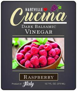 Hartville Cucina Raspberry Dark Balsamic Vinegar label