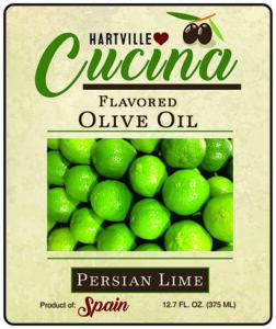Hartville Cucina Persian Lime Flavor Infused Olive Oil label