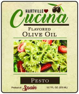 Hartville Cucina Pesto Flavor Infused Olive Oil label