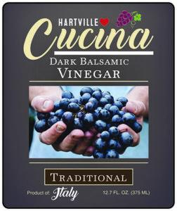 Hartville Cucina Tradition Dark Balsamic Vinegar label