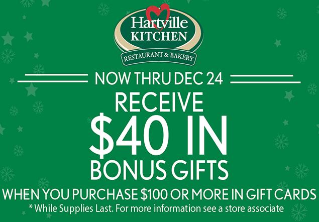 Hartville Kitchen Gift Card Promotion